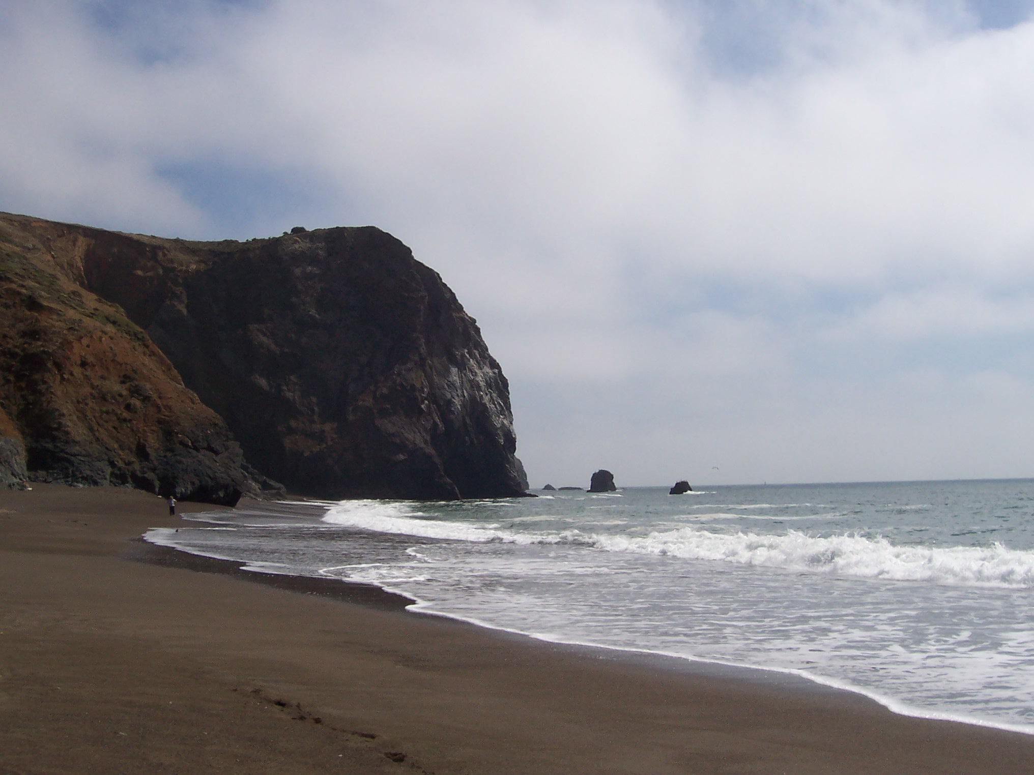 A beach on the way North from San Francisco (photo by Patricia A Leslie, artist / author)