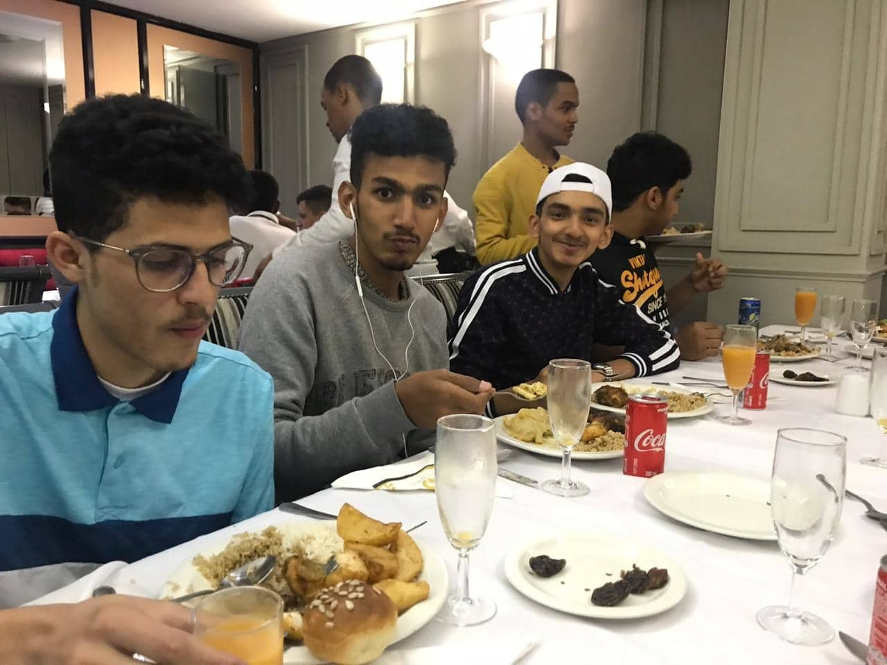 Students enjoying themselves at the Iftar dinner with EC English Cape Town