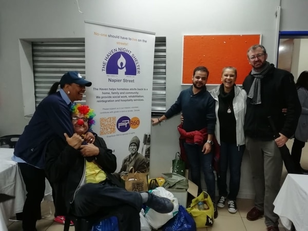Delivering donations to The Haven Night Shelter