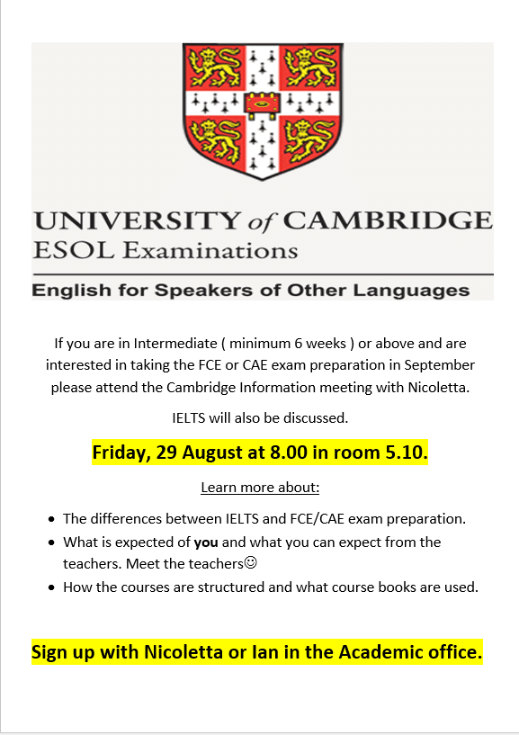 Cambridge poster for EC Cape Town