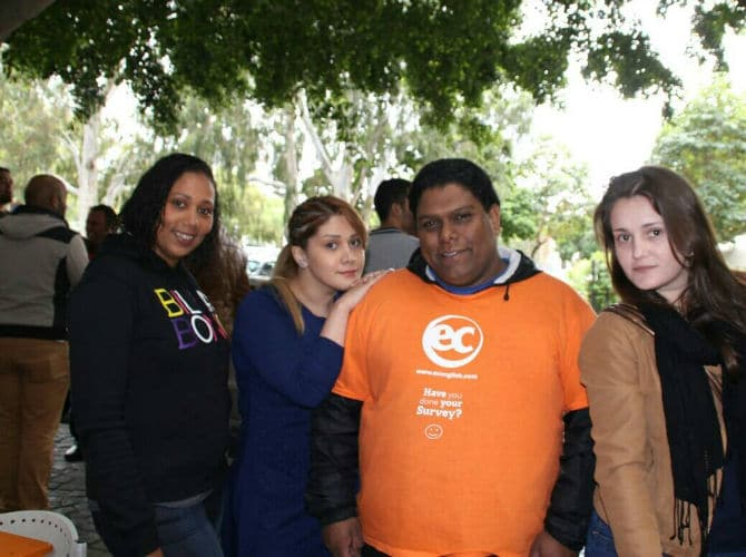 Abdul and some of the students at EC Cape Town