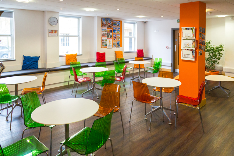 English School EC Brighton Canteen Where Students Can Enjoy Their Lunch Or Relax With Fellow